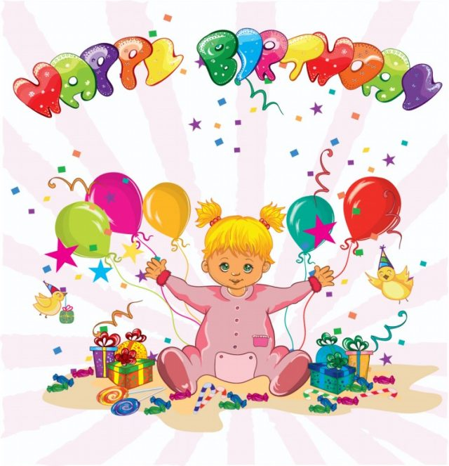 happy birthday pictures for kids – little girls