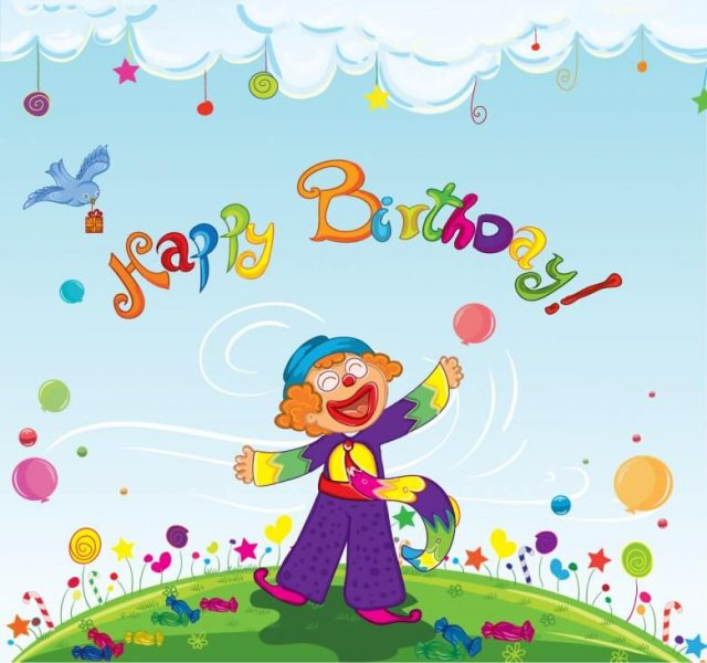 happy birthday pictures for kids – the clown