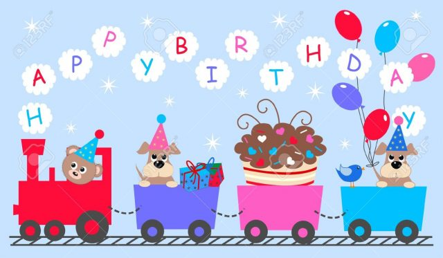 happy birthday pictures for kids – the lovely train