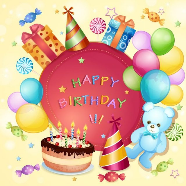 happy birthday pictures for kids with Teddy