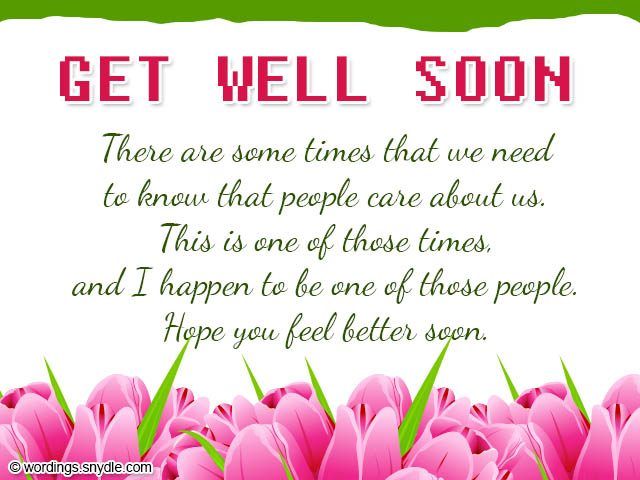 tender get well soon messages